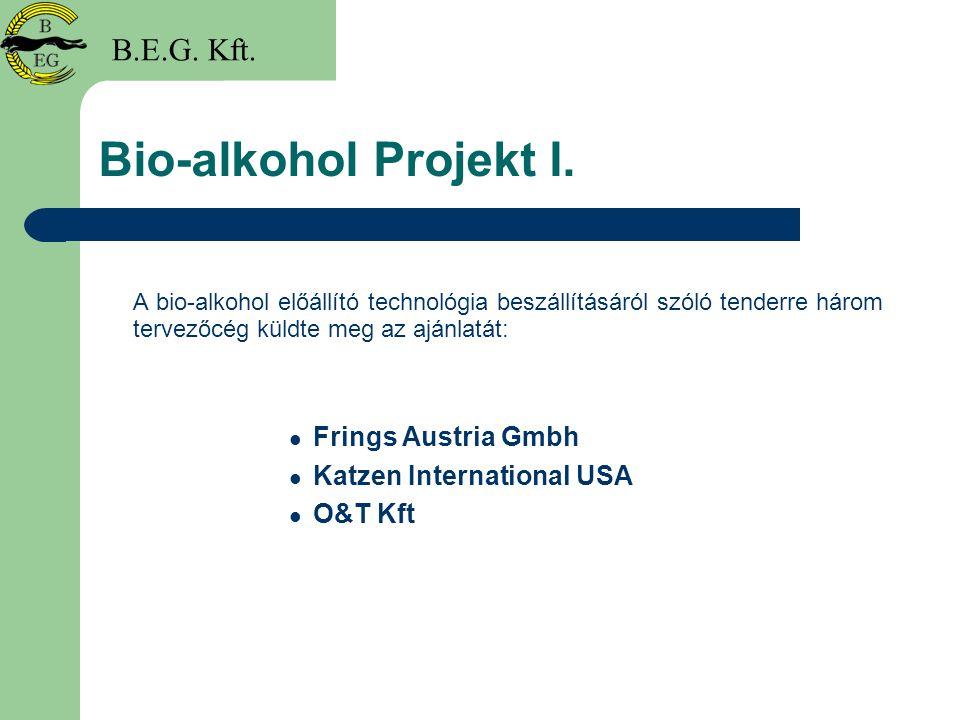 Bio-alkohol Projekt I. B.E.G. Kft. Frings Austria Gmbh