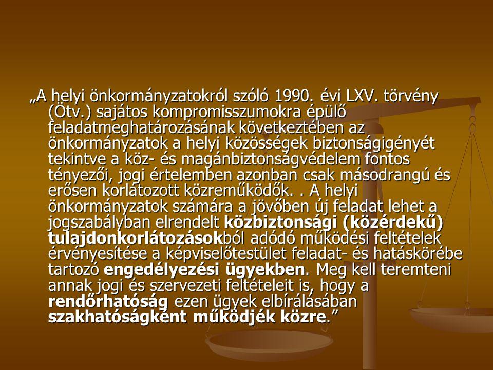 """""""A helyi önkormányzatokról szóló 1990. évi LXV. törvény (Ötv"""