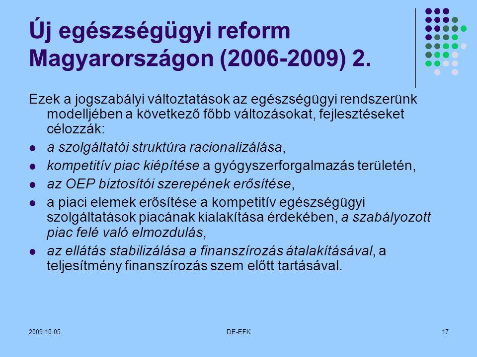 Új egészségügyi reform Magyarországon (2006-2009) 2.