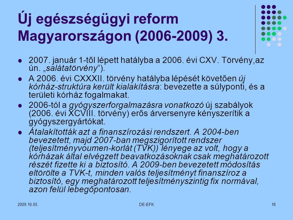 Új egészségügyi reform Magyarországon (2006-2009) 3.