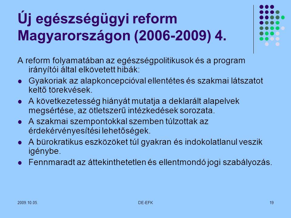 Új egészségügyi reform Magyarországon (2006-2009) 4.