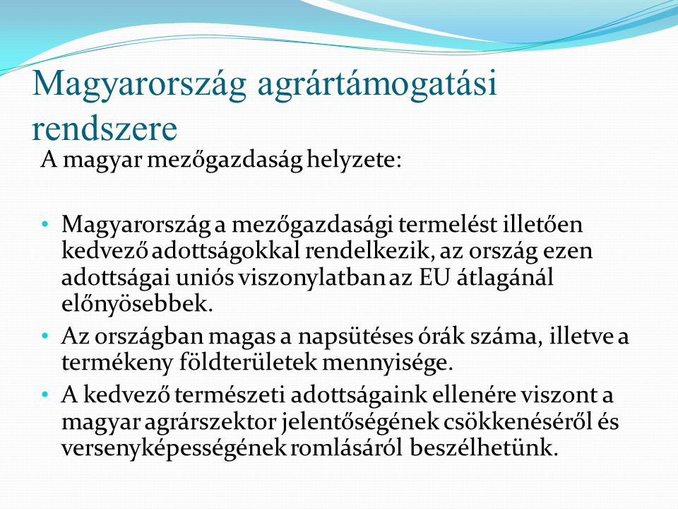 Magyarország agrártámogatási rendszere