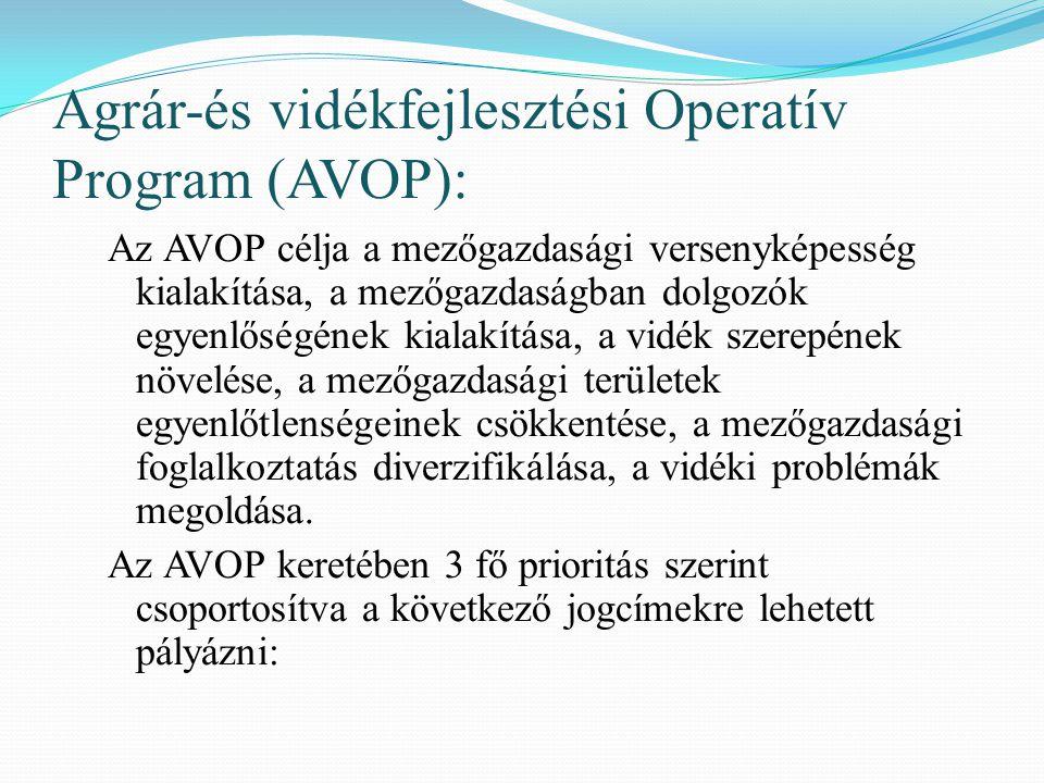 Agrár-és vidékfejlesztési Operatív Program (AVOP):