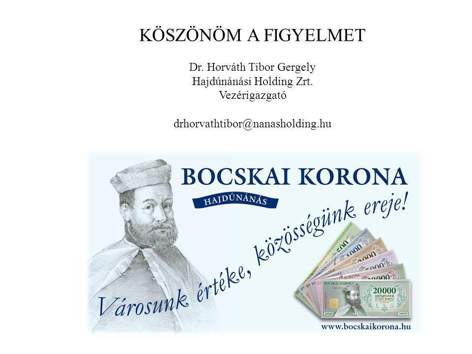 KÖSZÖNÖM A FIGYELMET Dr. Horváth Tibor Gergely