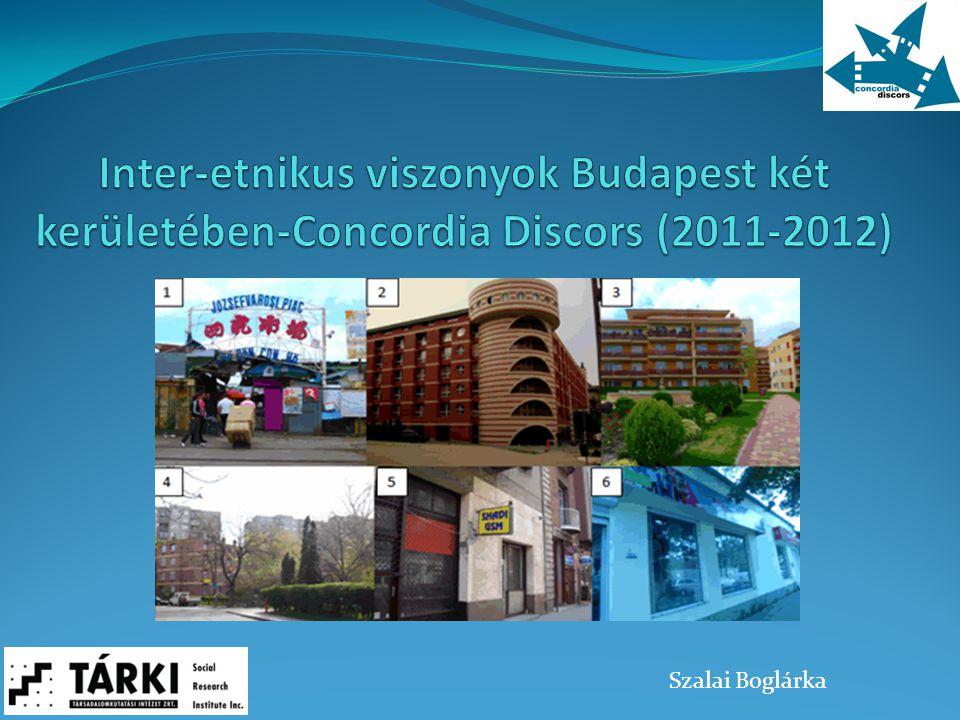 Inter-etnikus viszonyok Budapest két kerületében-Concordia Discors (2011-2012)