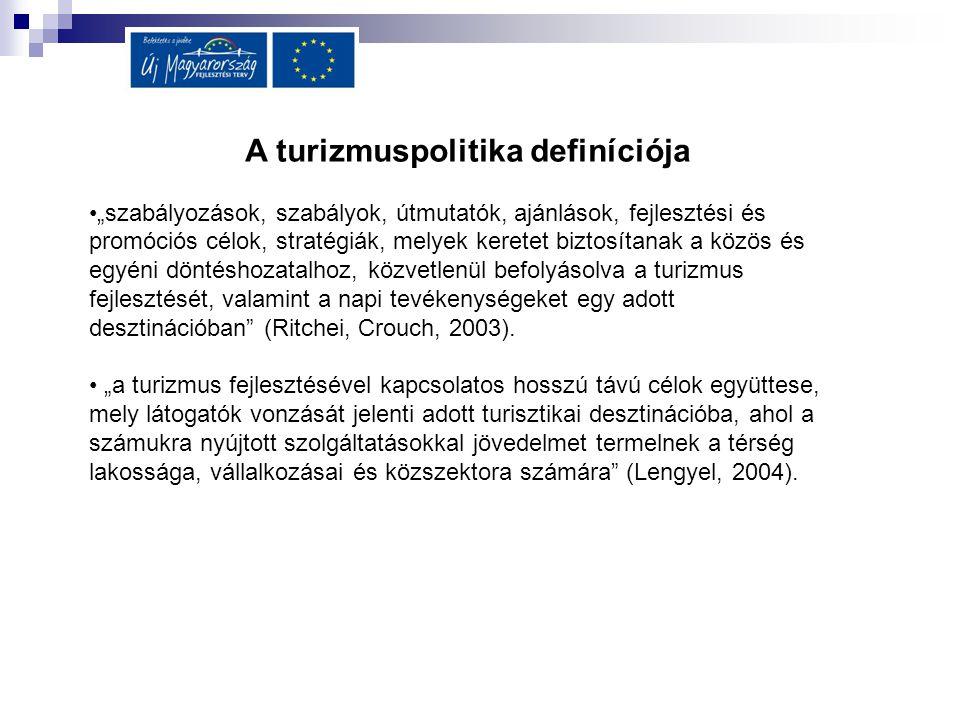 A turizmuspolitika definíciója