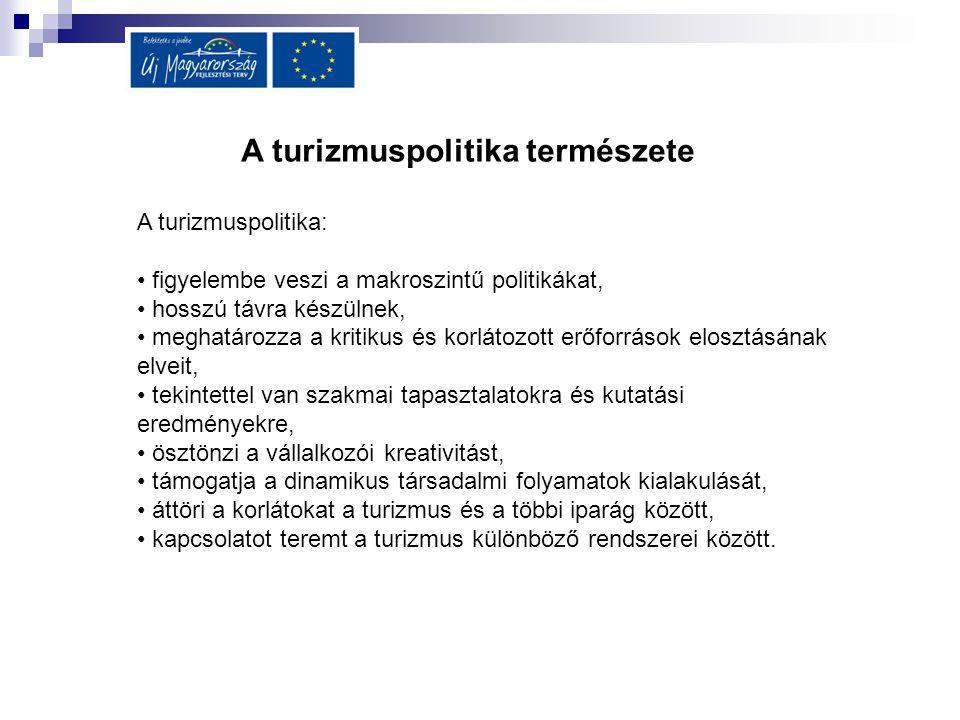 A turizmuspolitika természete