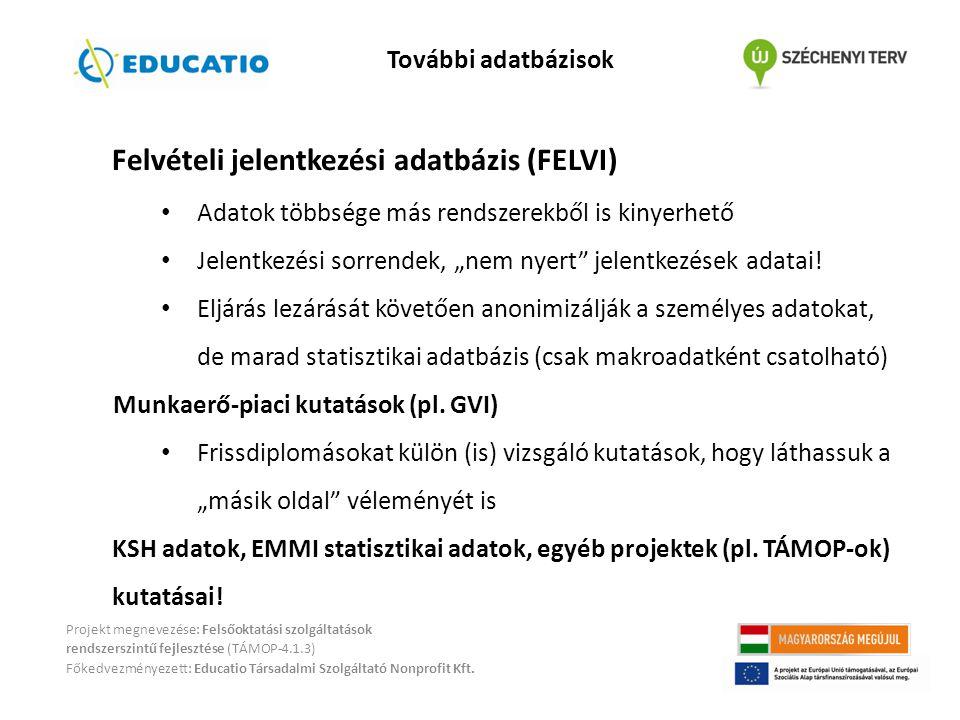 Felvételi jelentkezési adatbázis (FELVI)
