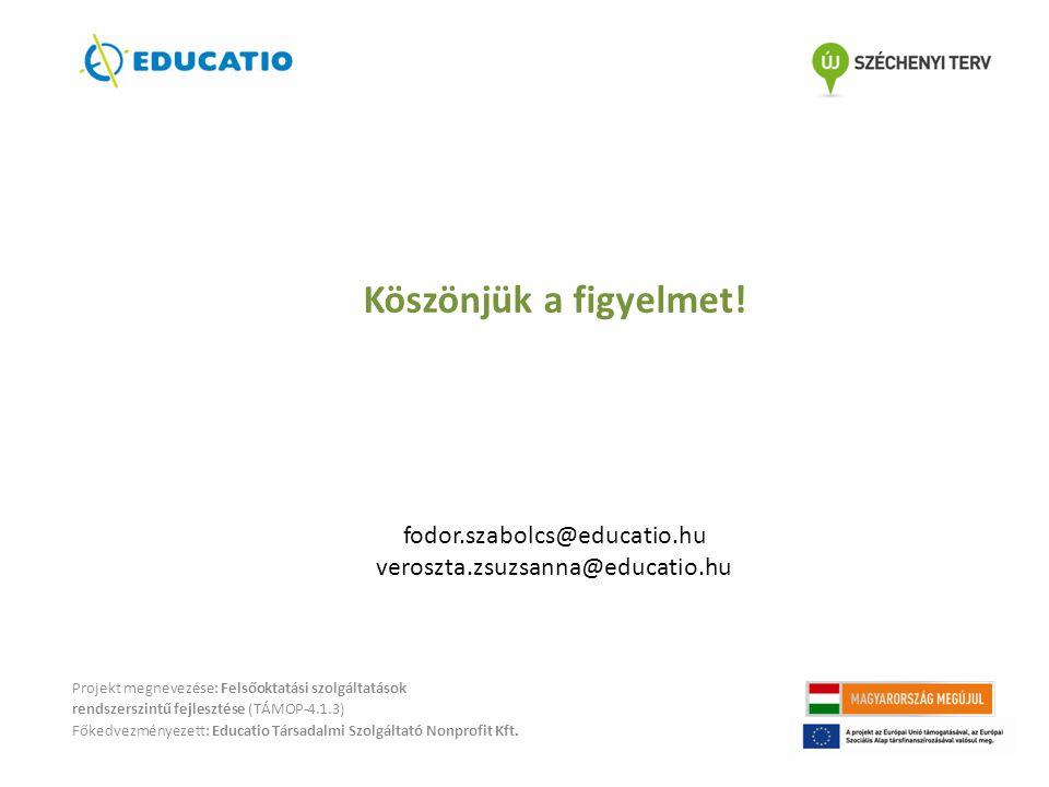 Köszönjük a figyelmet! fodor.szabolcs@educatio.hu
