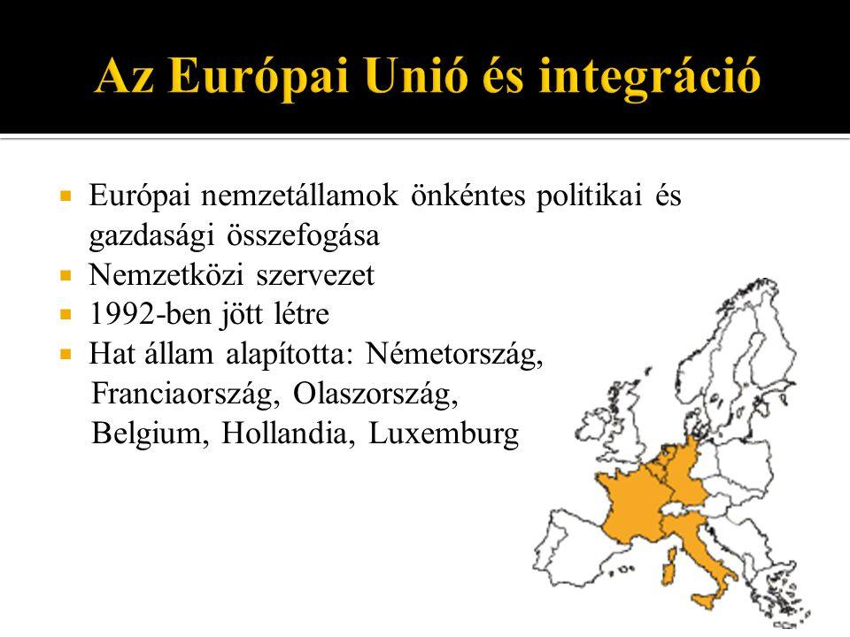 Az Európai Unió és integráció