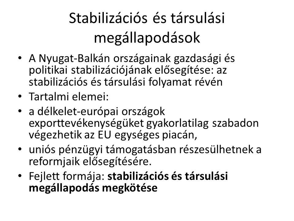 Stabilizációs és társulási megállapodások