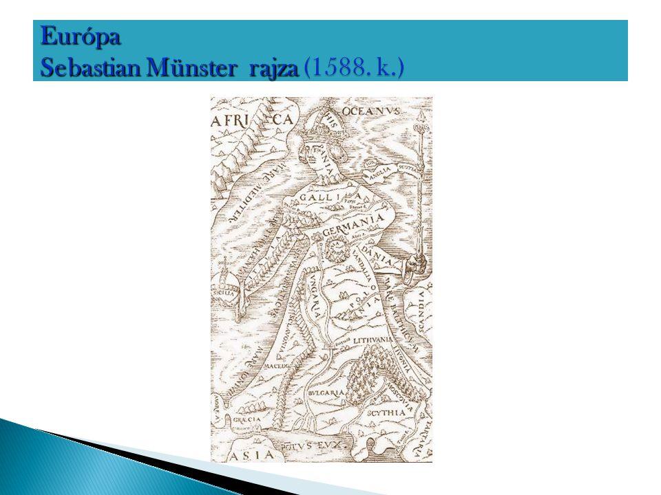 Európa Sebastian Münster rajza (1588. k.)