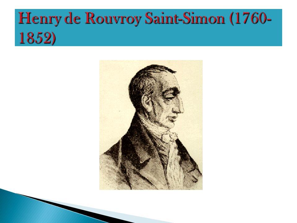Henry de Rouvroy Saint-Simon (1760-1852)