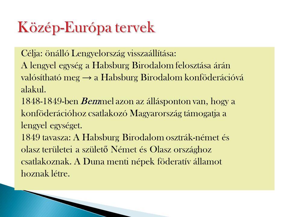 Közép-Európa tervek