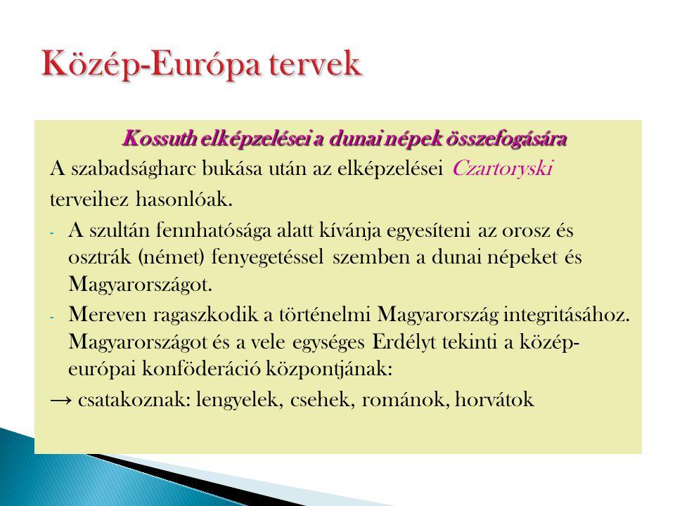 Kossuth elképzelései a dunai népek összefogására