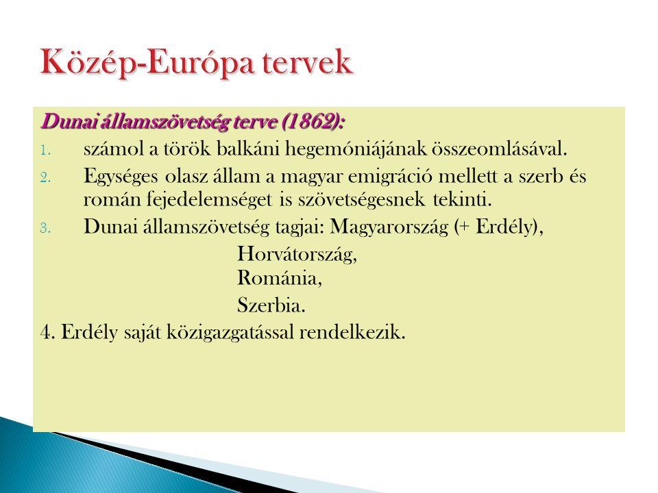 Közép-Európa tervek Dunai államszövetség terve (1862):