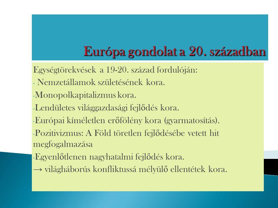 Európa gondolat a 20. században