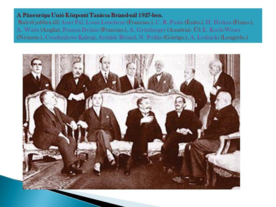 A Páneurópa Unió Központi Tanácsa Briand-nál 1927-ben