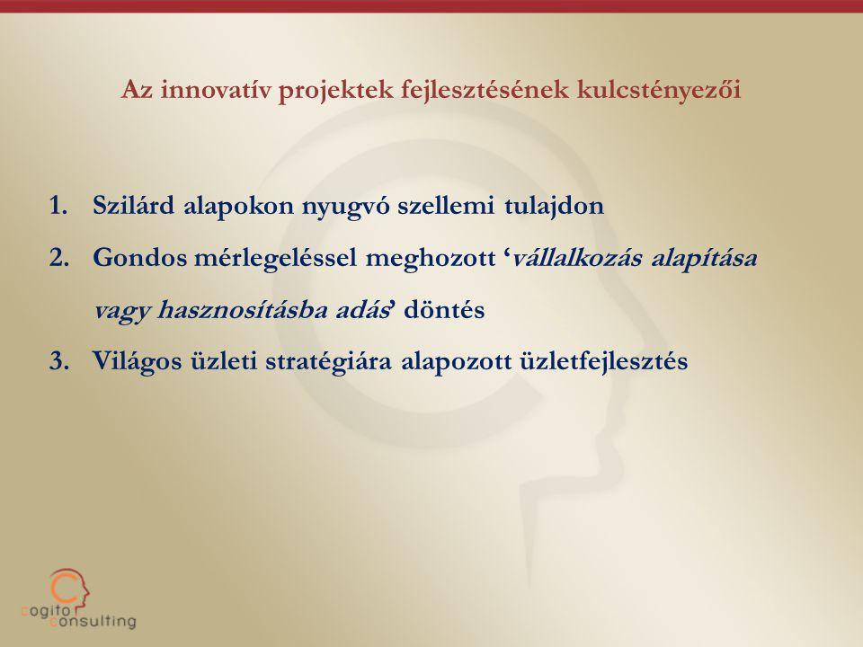 Az innovatív projektek fejlesztésének kulcstényezői