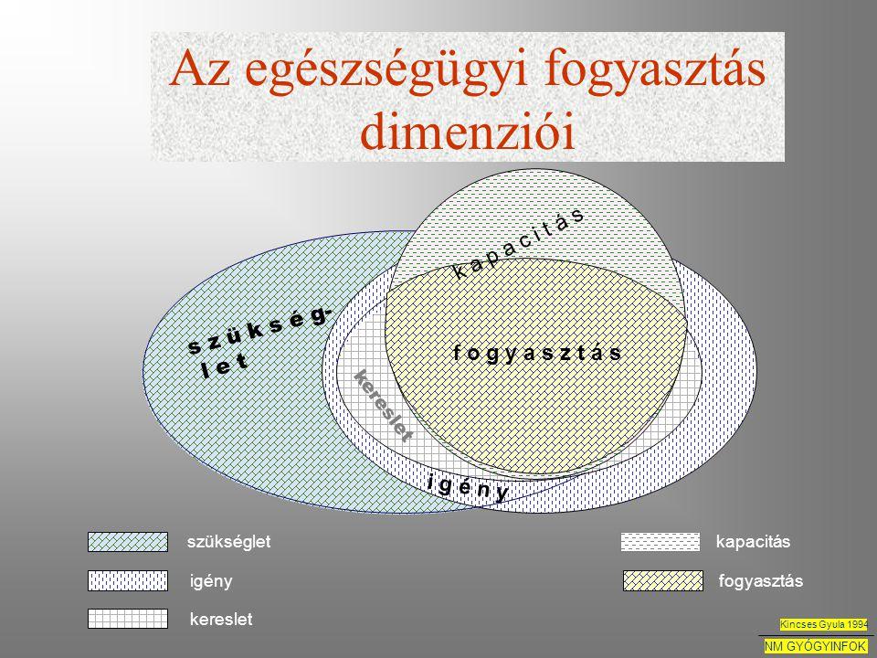 Az egészségügyi fogyasztás dimenziói