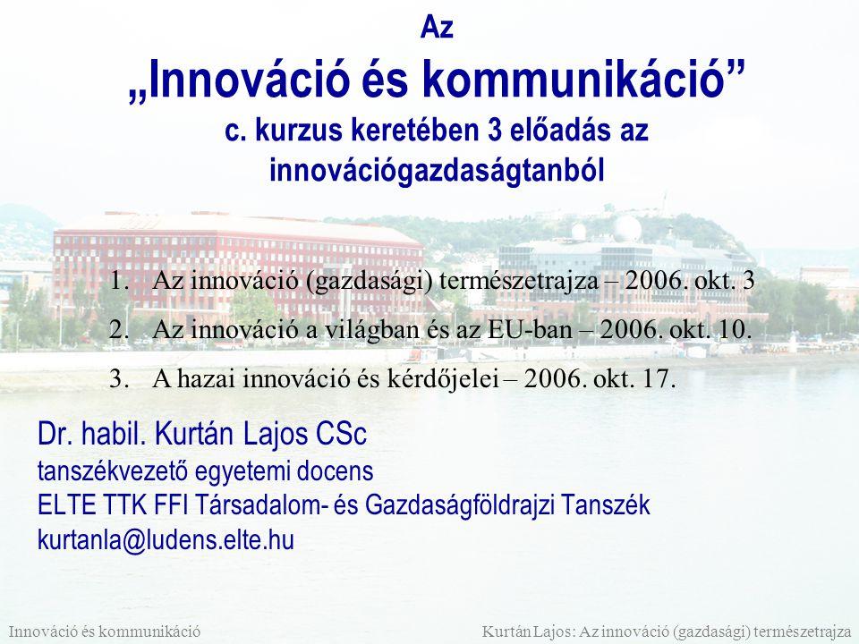 """Az """"Innováció és kommunikáció c"""