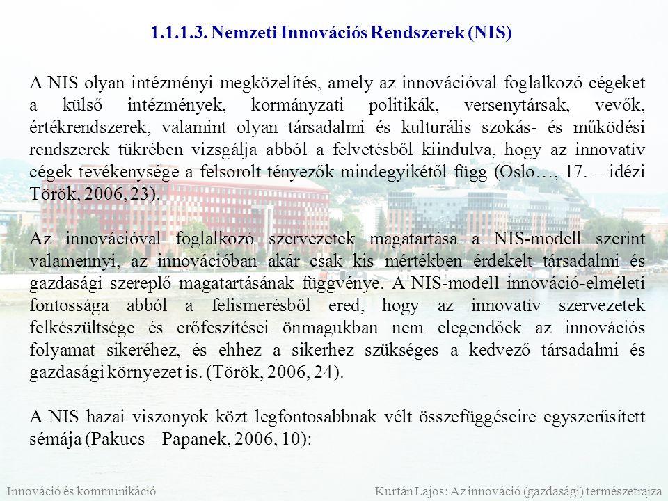 1.1.1.3. Nemzeti Innovációs Rendszerek (NIS)