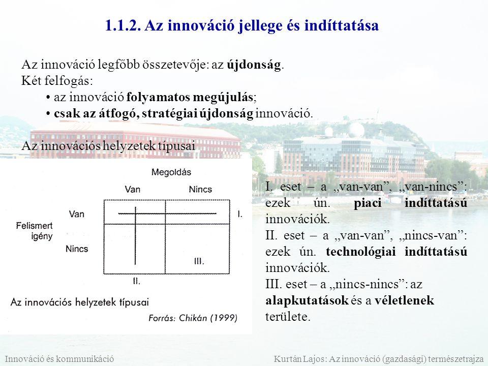 1.1.2. Az innováció jellege és indíttatása