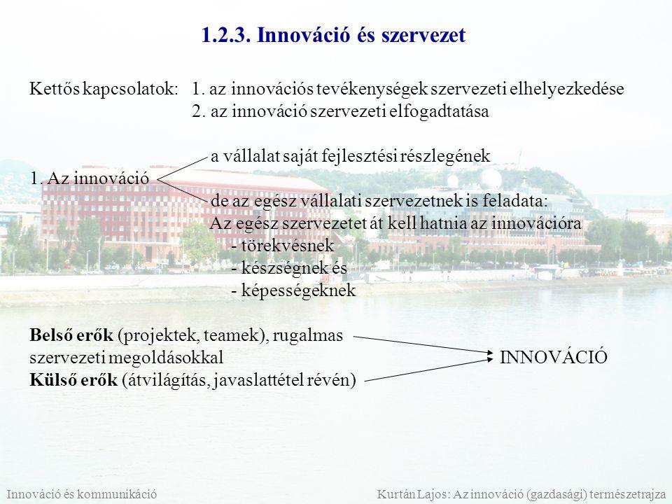 1.2.3. Innováció és szervezet