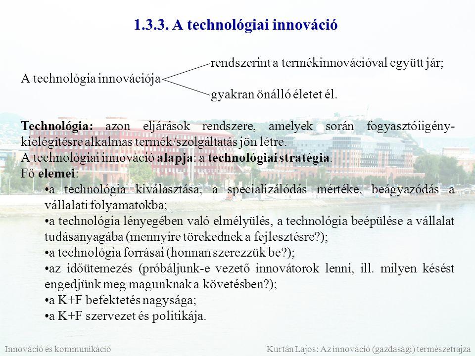 1.3.3. A technológiai innováció