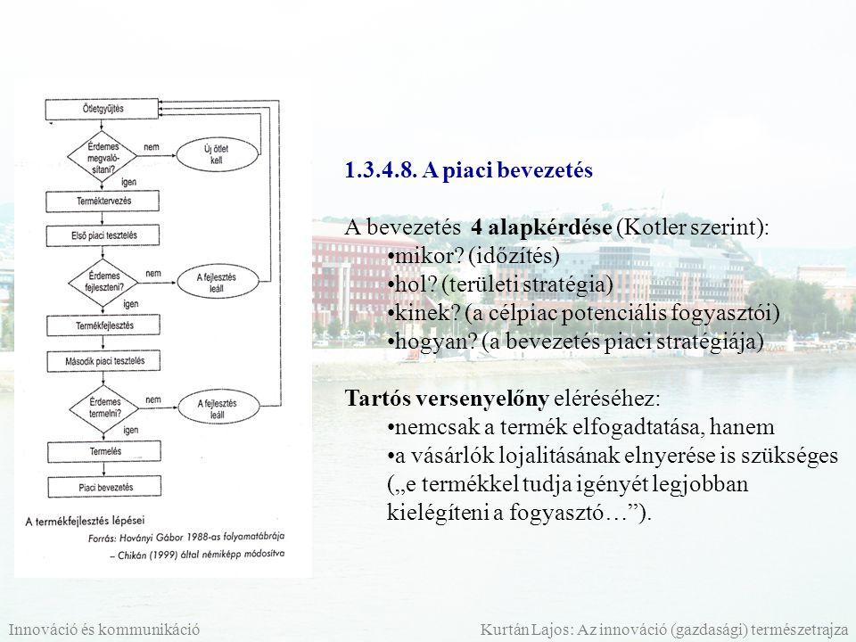 A bevezetés 4 alapkérdése (Kotler szerint): mikor (időzítés)