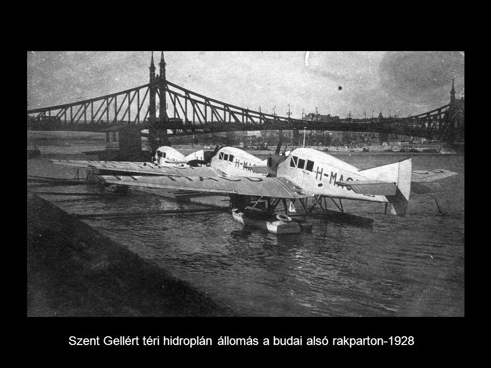 Szent Gellért téri hidroplán állomás a budai alsó rakparton-1928
