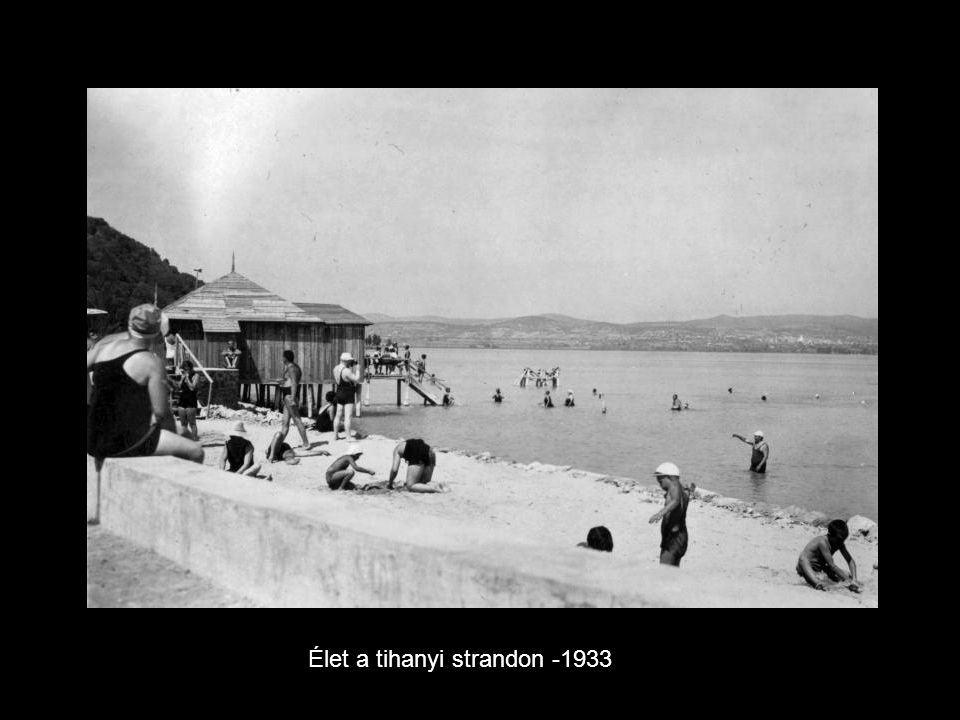 Élet a tihanyi strandon -1933