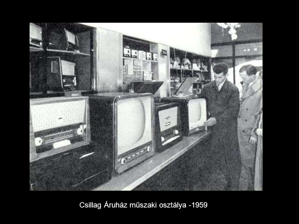 Csillag Áruház műszaki osztálya -1959