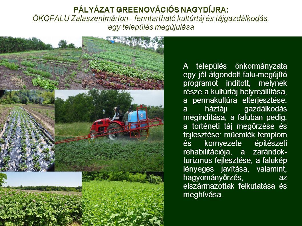 PÁLYÁZAT GREENOVÁCIÓS NAGYDÍJRA: ÖKOFALU Zalaszentmárton - fenntartható kultúrtáj és tájgazdálkodás, egy település megújulása