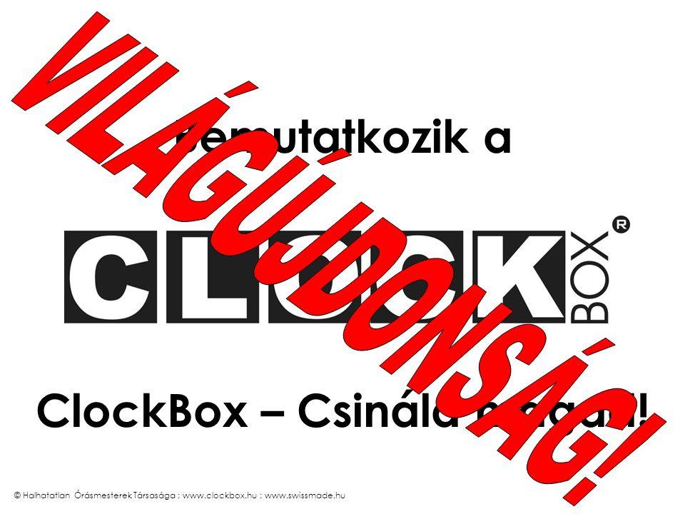 A ClockBox – Csináld magad! reklámóra