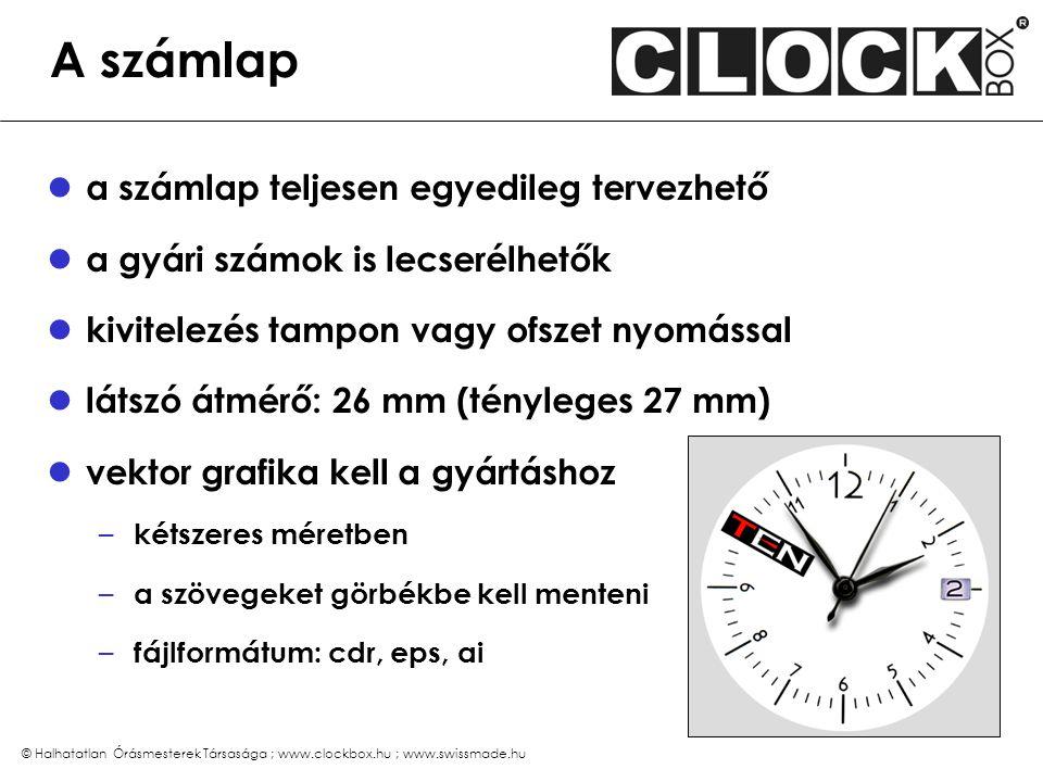 Az óratok gyárilag áttetsző műanyag tetszés szerint festhető