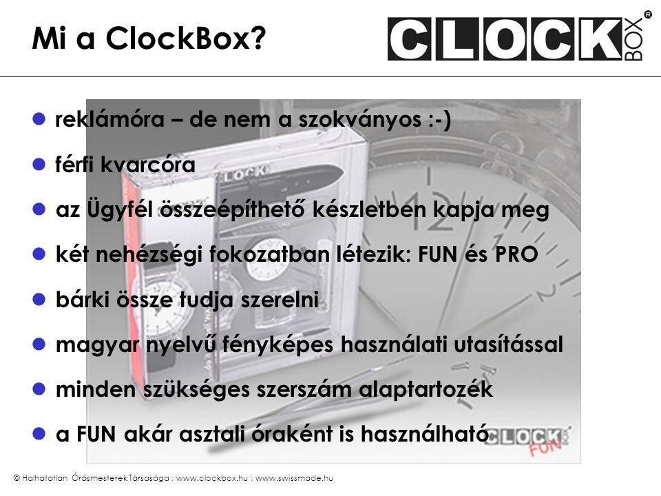 ClockBox FUN az egyszerűbb változat
