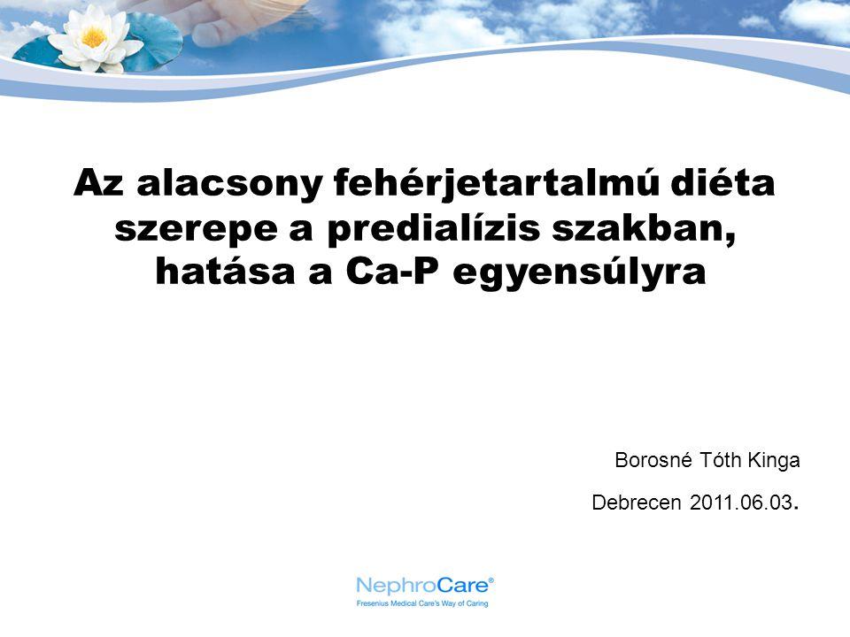 Az alacsony fehérjetartalmú diéta szerepe a predialízis szakban, hatása a Ca-P egyensúlyra