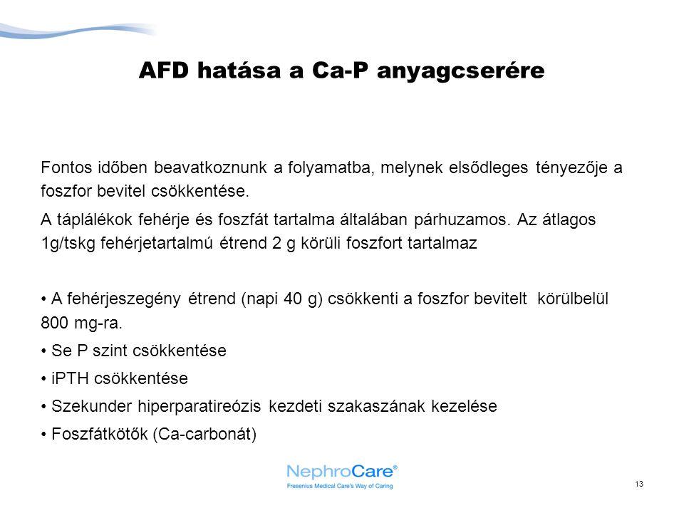 AFD hatása a Ca-P anyagcserére