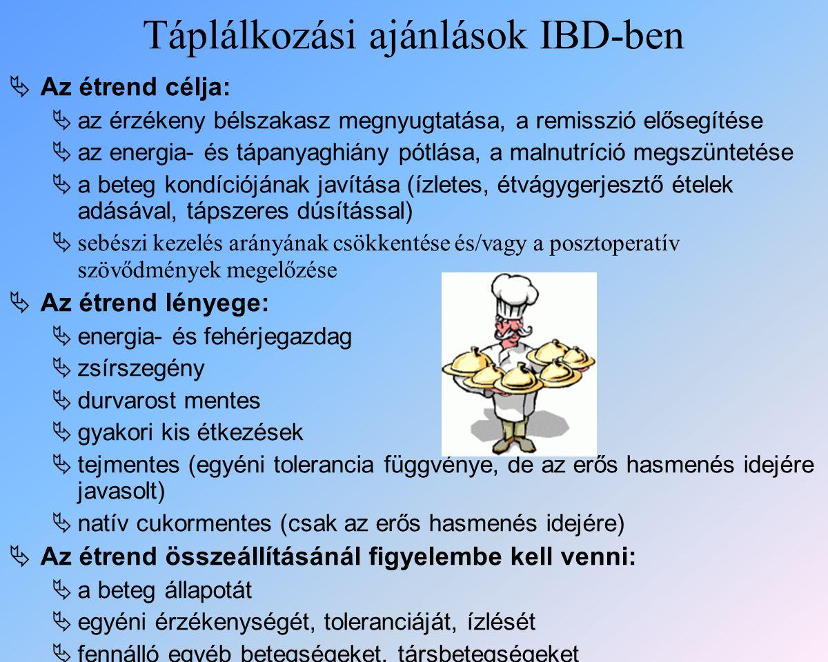 Táplálkozási ajánlások IBD-ben