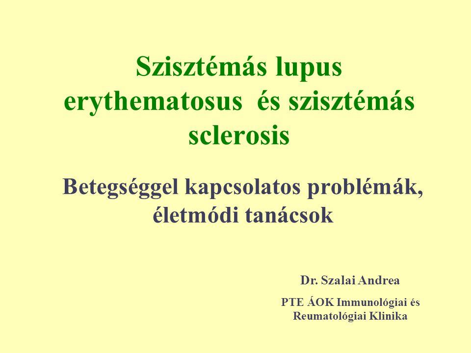 Szisztémás lupus erythematosus és szisztémás sclerosis