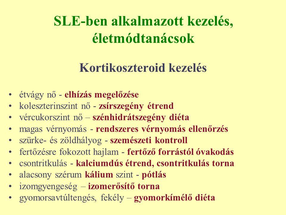 SLE-ben alkalmazott kezelés, életmódtanácsok
