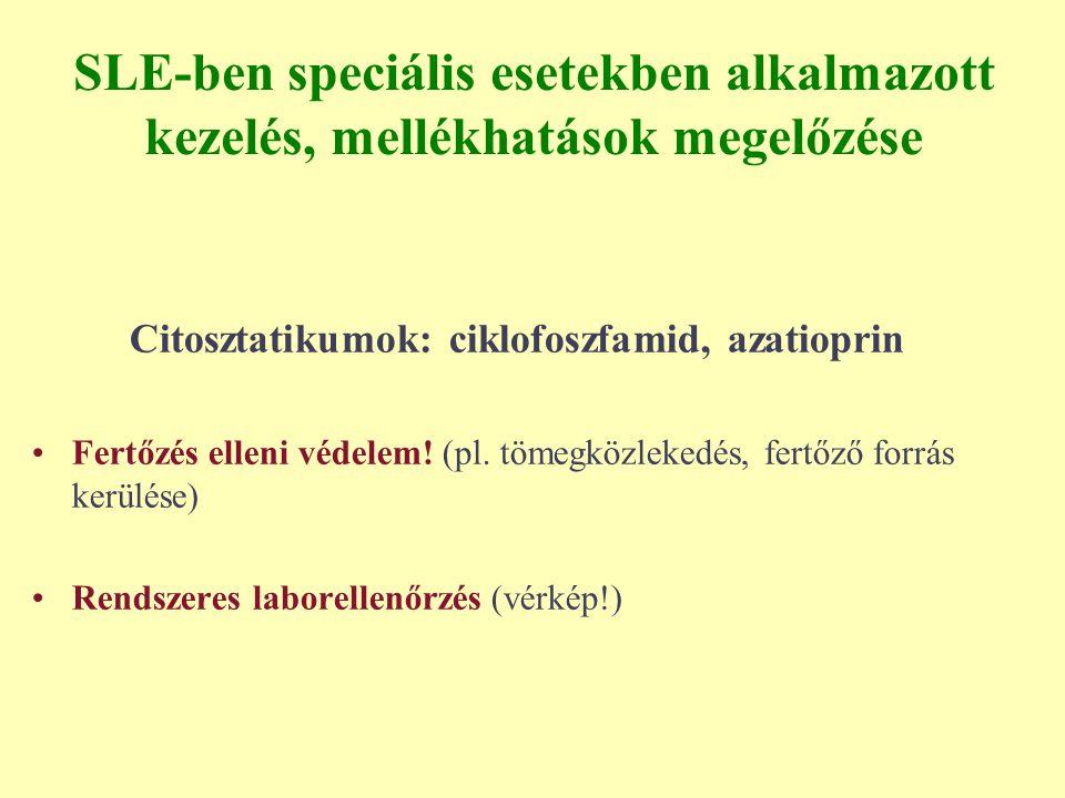 Citosztatikumok: ciklofoszfamid, azatioprin