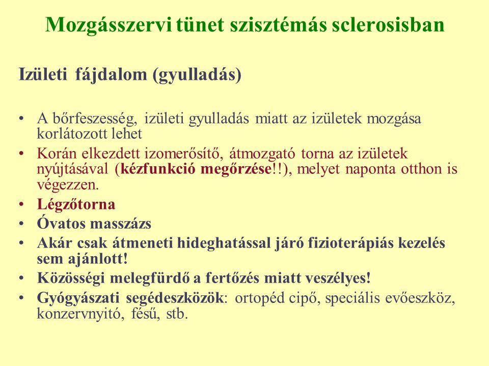 Mozgásszervi tünet szisztémás sclerosisban