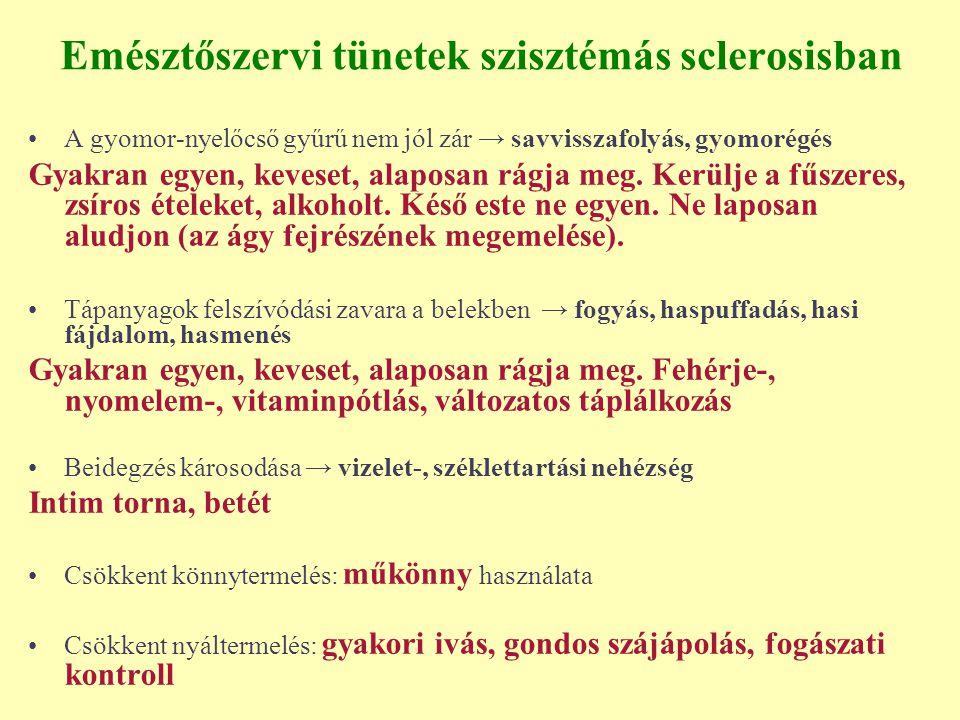 Emésztőszervi tünetek szisztémás sclerosisban