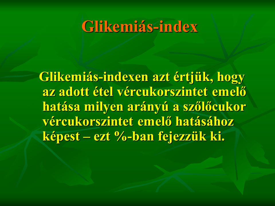 Glikemiás-index