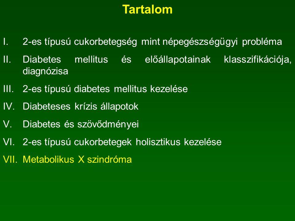 Tartalom 2-es típusú cukorbetegség mint népegészségügyi probléma