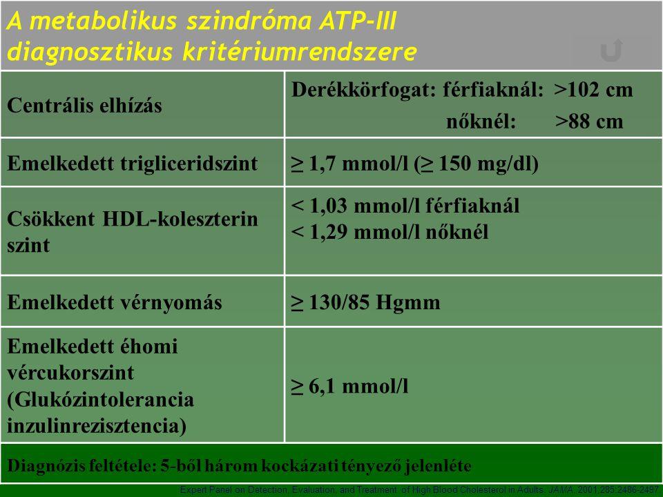 A metabolikus szindróma ATP-III diagnosztikus kritériumrendszere