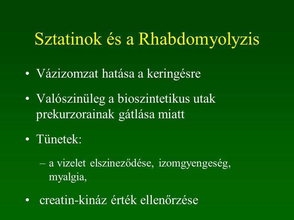 Sztatinok és a Rhabdomyolyzis