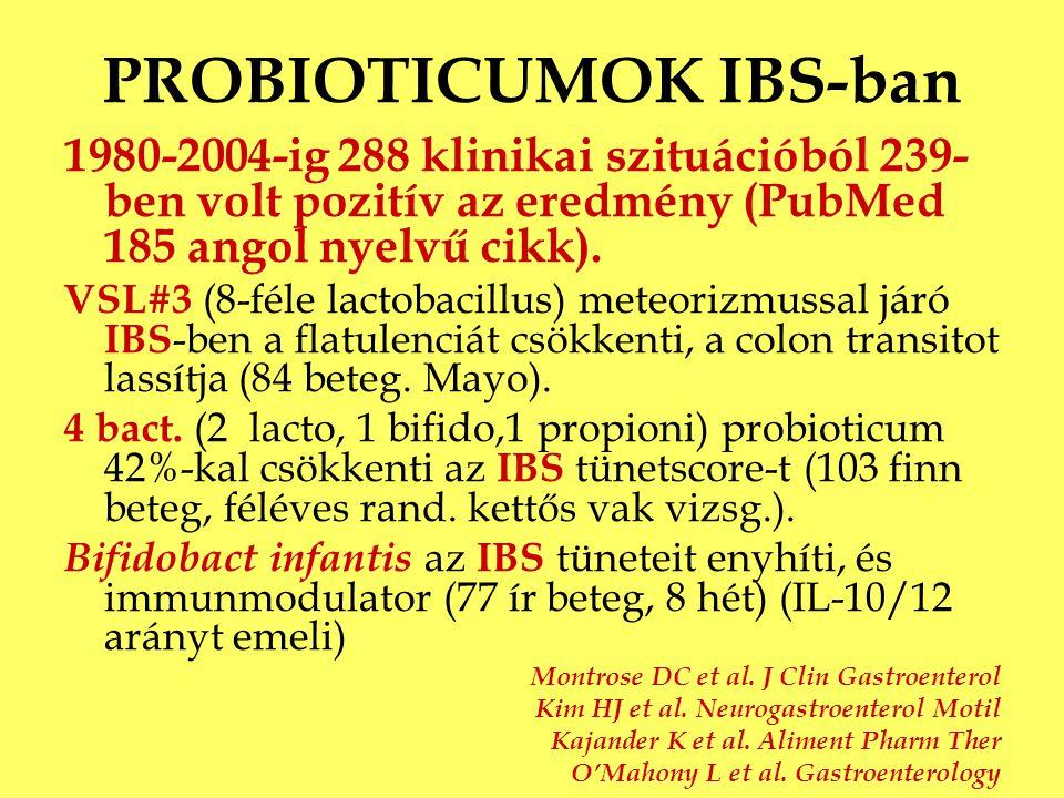 PROBIOTICUMOK IBS-ban
